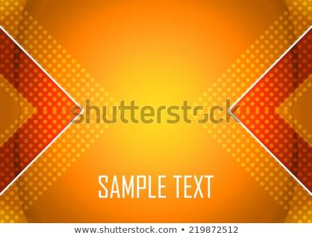 white arrow on orange background - vector illustration Stock photo © sdmix