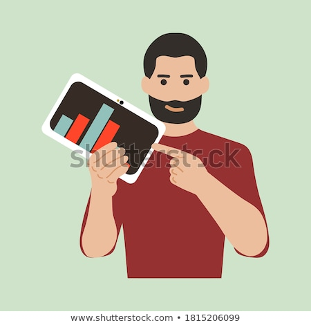 young fashion man holding a tablet pad computer. stock photo © feedough