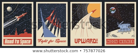 Retro űr terv erő szabadság bolygó Stock fotó © lindwa