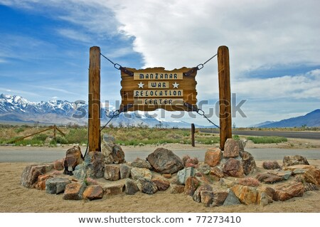 Manzanar War Relocation Center sign Stock photo © fotogal