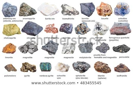 Mineral isolado branco metal natureza rocha Foto stock © jonnysek