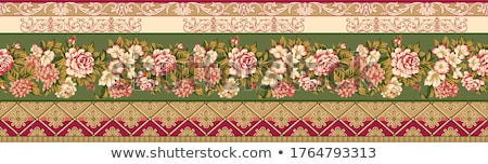 abstract floral border background  stock photo © redshinestudio