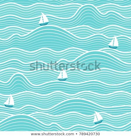 Wzór fali łodzi ocean świetle morza tle Zdjęcia stock © meinzahn