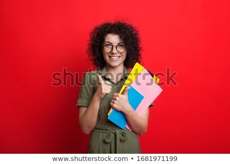 Menina feliz livro feliz alegre loiro Foto stock © aza