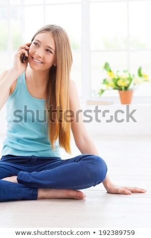 Délelőtt örvend hall mosolyog vállalati férfi Stock fotó © stockyimages