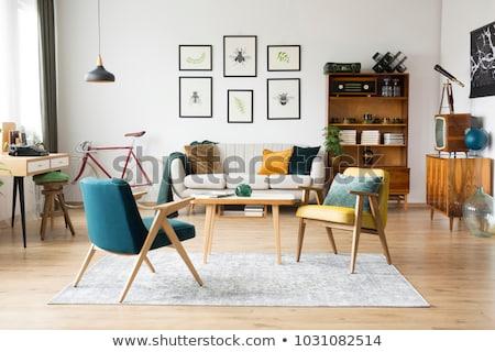 Home decoratie witte bloemen vintage glas Stockfoto © manera