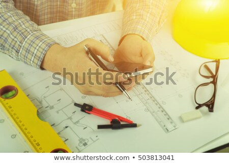 Project drawing and iphone Stock photo © tangducminh
