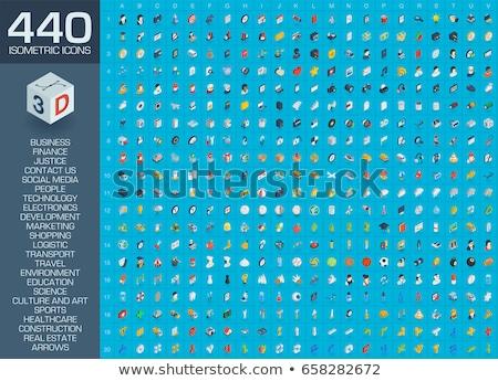 モニター · キーボード · アイソメトリック · アイコン · 孤立した - ストックフォト © maximmmmum