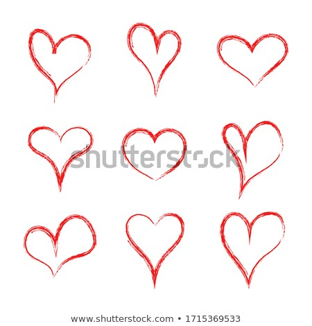 soyut · simge · yalıtılmış · örnek · kalp · sanat - stok fotoğraf © eltoro69