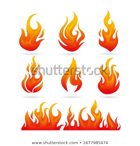 vector energy fire flames symbols isolated on white background stock photo © slunicko
