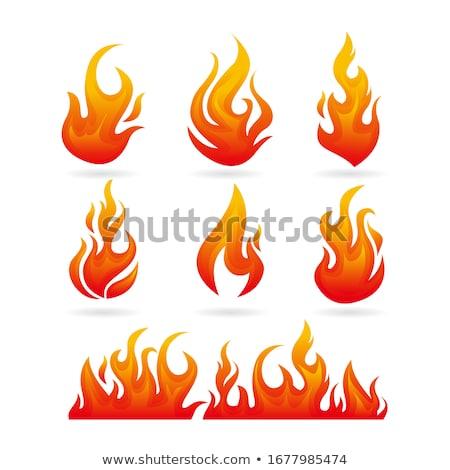 Vector energy fire flames symbols isolated on white background Stock photo © slunicko