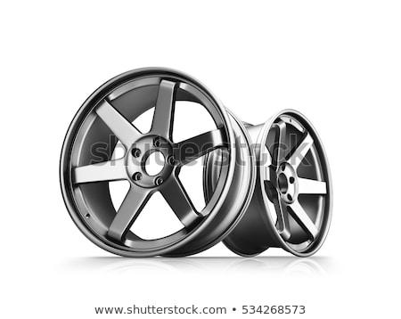 plata · aluminio · rueda · aislado - foto stock © ozaiachin