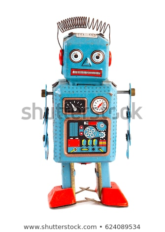 juguete · mecánico · robot · llave · blanco - foto stock © daboost