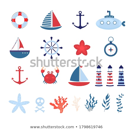 rétro · transport · marines · illustration · navire - photo stock © tracer