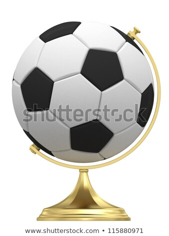 Soccer Ball On Gloden Globe Stand Photo stock © oneo