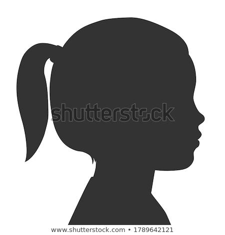 vektor · japán · rajz · manga · lány · fej - stock fotó © sahua