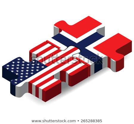 usa and norway flags in puzzle stock photo © istanbul2009