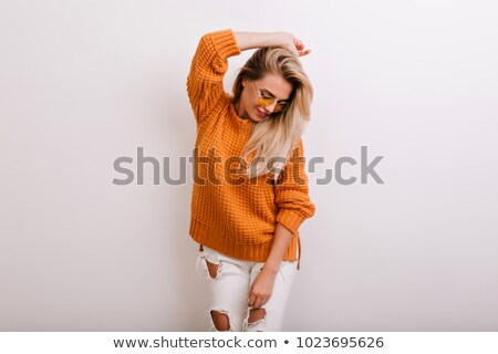 Pretty Young Woman Posing Trendy Attire Stock photo © juniart