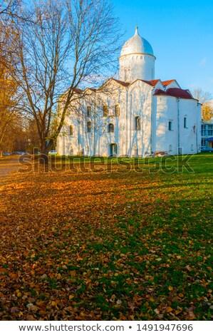 Kilise Bina çapraz mimari beyaz tapınak Stok fotoğraf © smartin69
