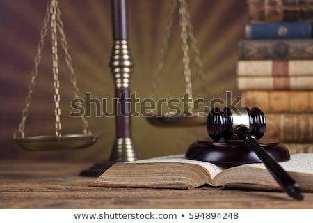 bois · marteau · justice · juridiques · avocat · juge - photo stock © janpietruszka