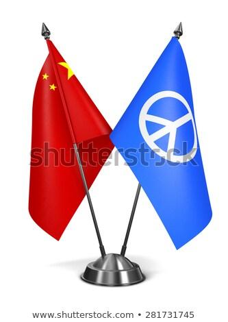 Cina pace segno miniatura bandiere isolato Foto d'archivio © tashatuvango