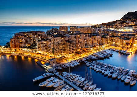 Aerial View on Monaco Harbor with Luxury Yachts, French Riviera Stock photo © master1305