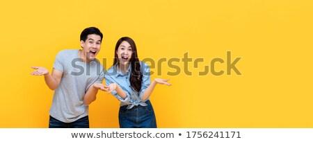 Megrémült arc nő férfi üzletasszony üzlet Stock fotó © fuzzbones0