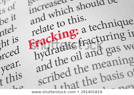 Definition of the word Fracking in a dictionary Stock photo © Zerbor