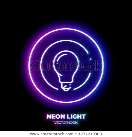 Energia felirat szimbólum ibolya vektor gomb Stock fotó © rizwanali3d