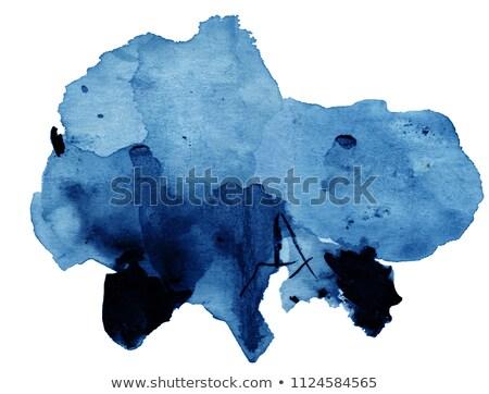 Bright blue watercolor spot Stock photo © gladiolus