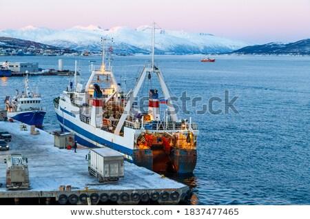 Kış gemi gemi park Stok fotoğraf © maxsol7