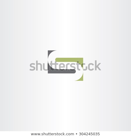 green gray letter s stylized design stock photo © blaskorizov