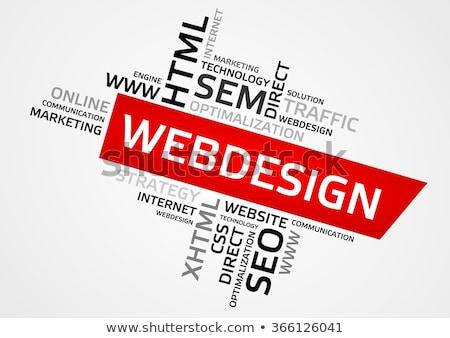 diseño · web · Internet · programación · idiomas · nombre · sitio · web - foto stock © fuzzbones0