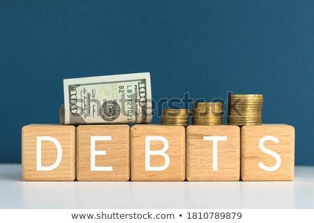 adósság · szó · egér · billentyűzet · gyerekek · fa - stock fotó © fuzzbones0