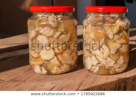 lezzetli · bir · mantar · türü · mantar · yenilebilir · kuruş - stok fotoğraf © More86