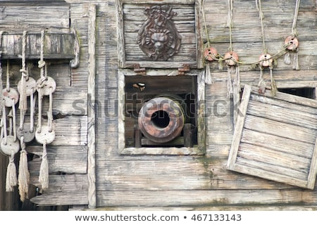 Navios canhão velho navio linhas pistola Foto stock © Bigalbaloo