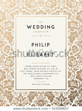 Vintage wedding invitation card with ornate design Stock photo © Morphart