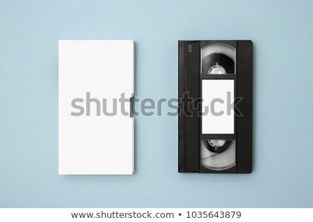 Starych wideo kaseta taśmy etykiety kopia przestrzeń Zdjęcia stock © ozaiachin