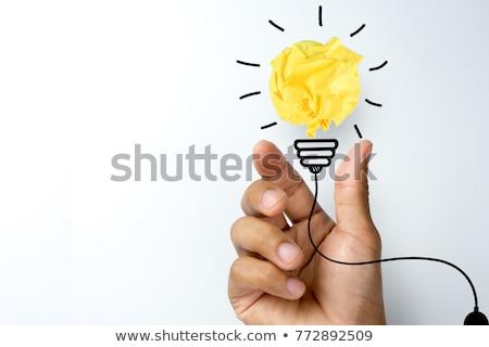 Foto stock: Negocios · idea · negro · empresario · de · trabajo · oficina