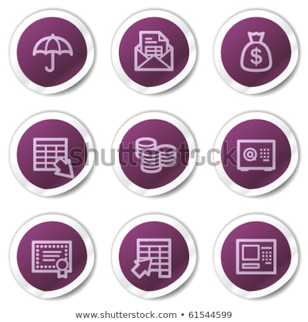 shield sign purple vector icon button stock photo © rizwanali3d