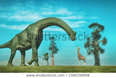 恐竜 3dのレンダリング 自然 は虫類 考古学 ストックフォト © AlienCat