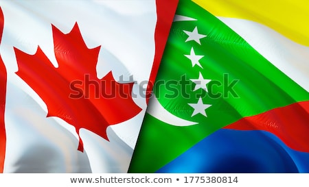 Canada and Comoros Flags Stock photo © Istanbul2009