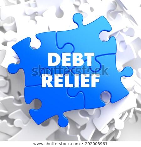 借金 救済 青 パズル 白 ビジネス ストックフォト © tashatuvango
