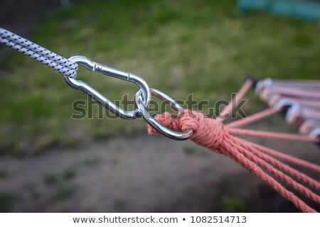 Zielone hak związku czerwony liny słowo Zdjęcia stock © tashatuvango