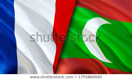 Франция Мальдивы флагами головоломки изолированный белый Сток-фото © Istanbul2009