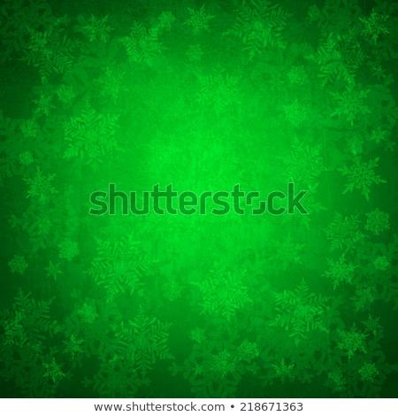 Verde Natale bianco gelo fiocchi di neve felice Foto d'archivio © Valeriy