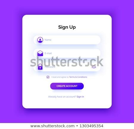 imzalamak · yukarı · mor · vektör · ikon · dizayn - stok fotoğraf © rizwanali3d