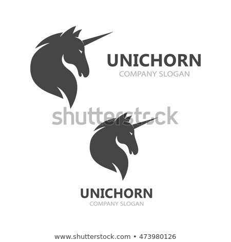 Black Heraldic Unicorn Stock photo © Genestro