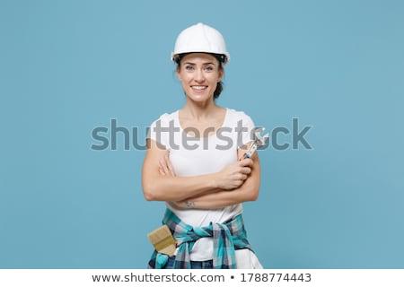 гаечный ключ женщины инженер стороны Сток-фото © RAStudio