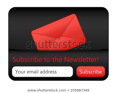 Dark subcribe to newsletter website element with red envelope Stock photo © liliwhite